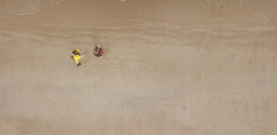 plage de saint lunaire bretagne drone